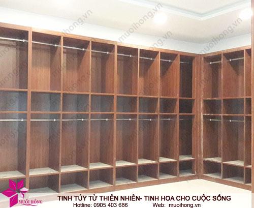 Khu locker đang hoàn thiện