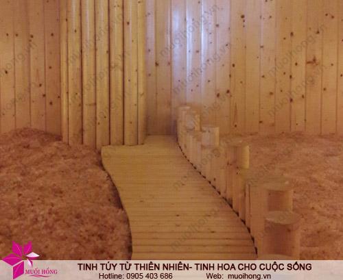 Phòng xông đá muối ủ