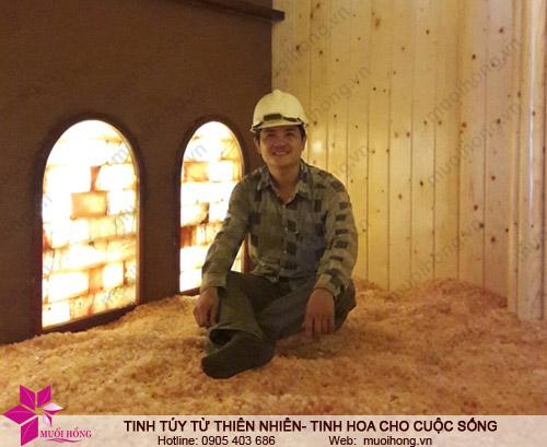 Nghiệm thu phòng xông đá muối ủ tại Jjim Jil Bang