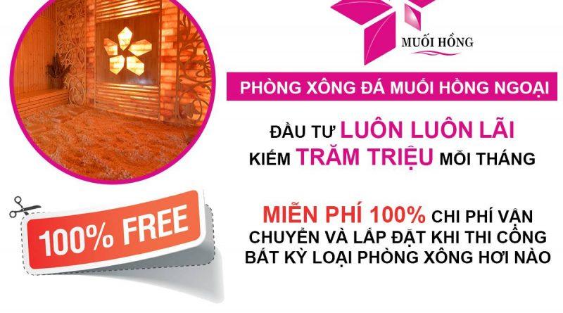 Tháng 12 Muối Hồng Group miễn phí 100% chi phí vận chuyển và lắp đặt phòng xông hơi