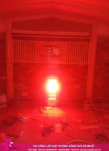 Hoàn thiện dự án phòng xông đá muối thảo dược tại Excellence Spa Cẩm Phả 1