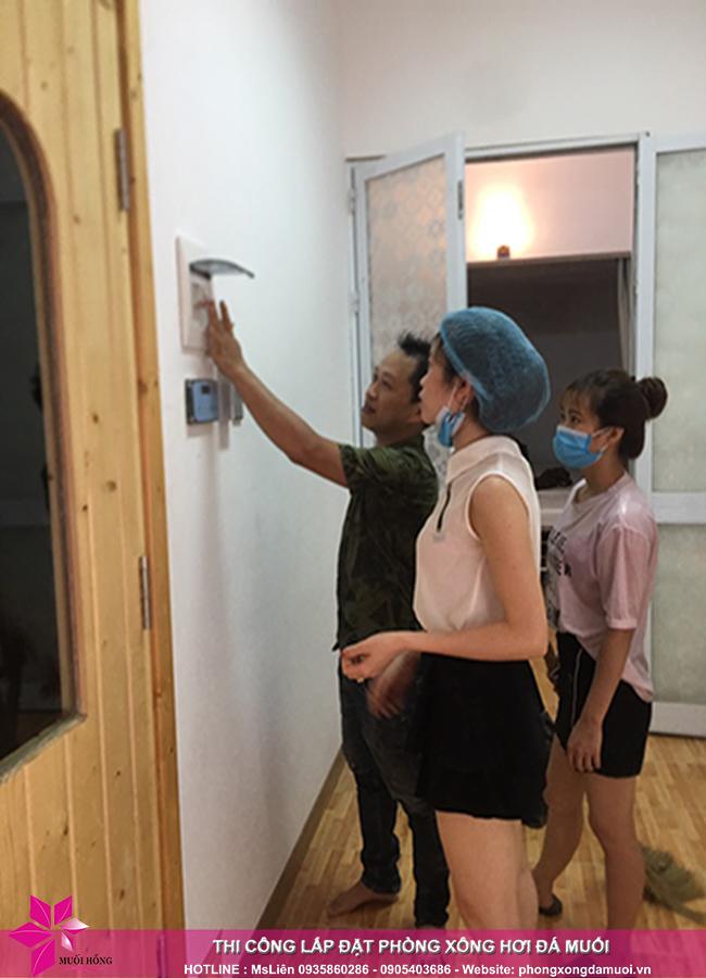 Hoàn thiện phòng xông đá muối trị liệu tại Tây Hồ, Hà Nội 4