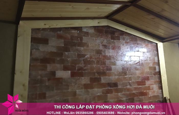 tiến độ công trình phòng xông đá muối tại khách sạn Công Đoàn Quảng Bá 4
