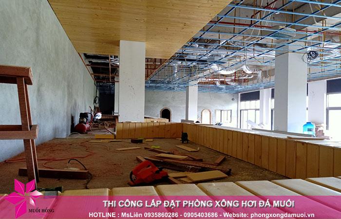 Cập nhật tiến độ thi công dự án Jjimjilbang The Pearl Hoi An 4