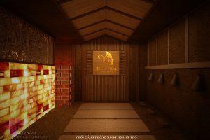 Vách hoàng thổ - chi tiết thiết kế mới trong các phòng xông trị liệu 3