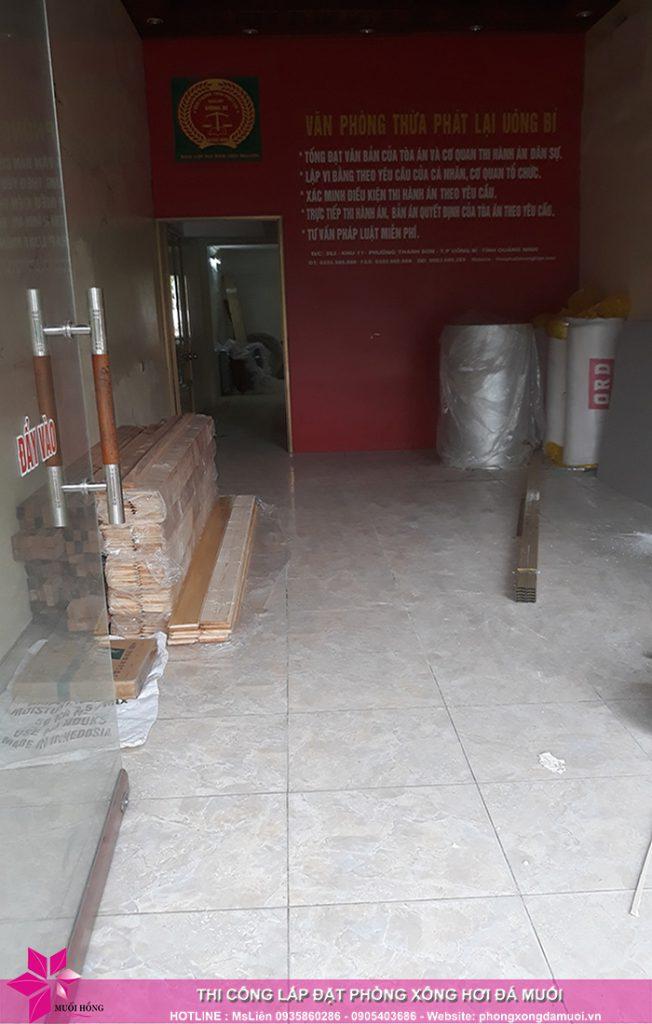 Tiến độ thi công dự án phòng xông hơi đá muối tại Uông Bí, Quảng Ninh 1