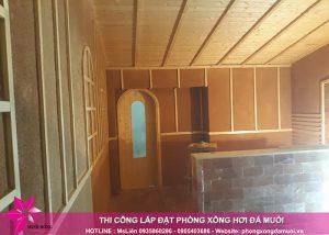 Tiến độ thi công dự án phòng xông hơi đá muối tại Uông Bí, Quảng Ninh 10