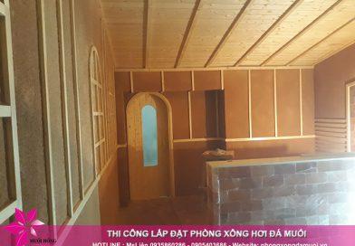 Tiến độ thi công dự án phòng xông hơi đá muối tại Uông Bí, Quảng Ninh