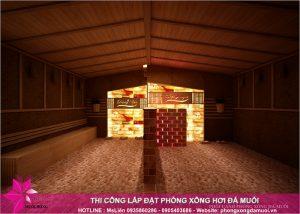 Tiến độ thi công dự án phòng xông hơi đá muối tại Uông Bí, Quảng Ninh 11