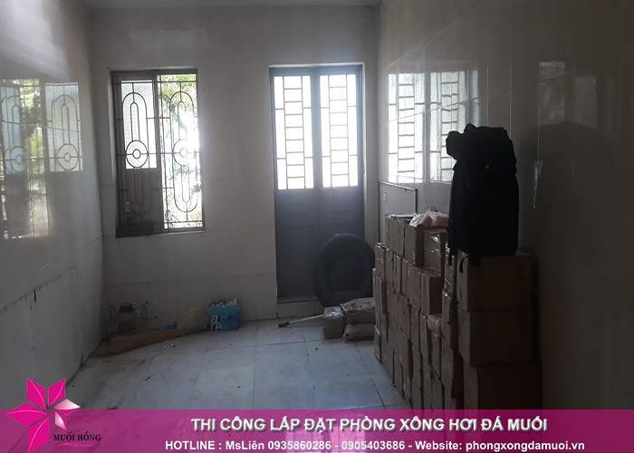 Tiến độ thi công dự án phòng xông hơi đá muối tại Uông Bí, Quảng Ninh 2