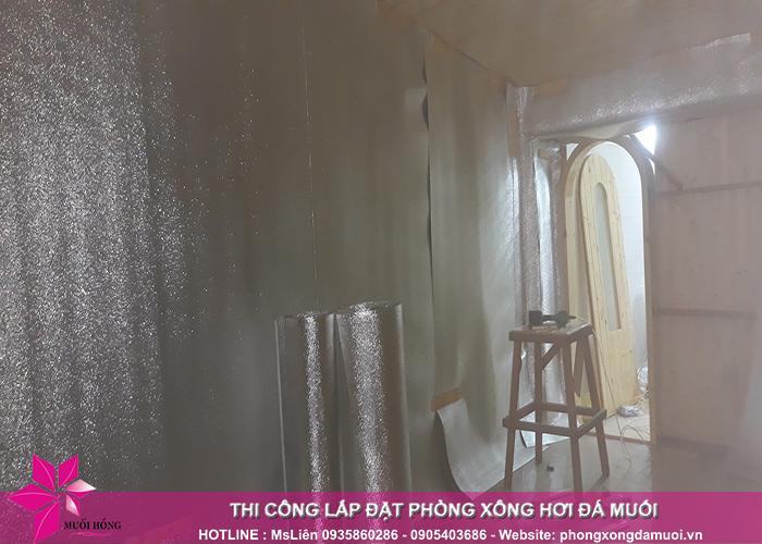 Tiến độ thi công dự án phòng xông hơi đá muối tại Uông Bí, Quảng Ninh 3
