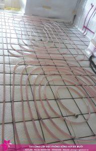 Tiến độ thi công dự án phòng xông hơi đá muối tại Uông Bí, Quảng Ninh 4