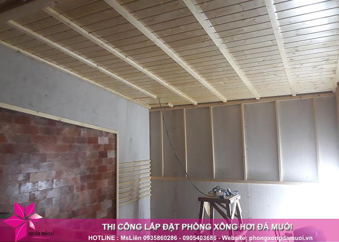 Tiến độ thi công dự án phòng xông hơi đá muối tại Uông Bí, Quảng Ninh 6