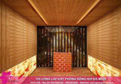 Chốt sổ dự án phòng xông hơi tại Mây Spa – Đà Nẵng