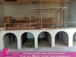 Tien do thi cong khu jjimjilbang tai Minh Phu Spa 2