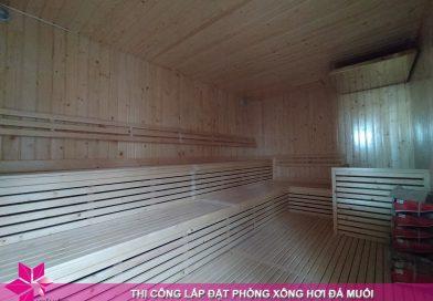 Hoàn thiện 02 phòng xông sauna tại Mikazuki Spa