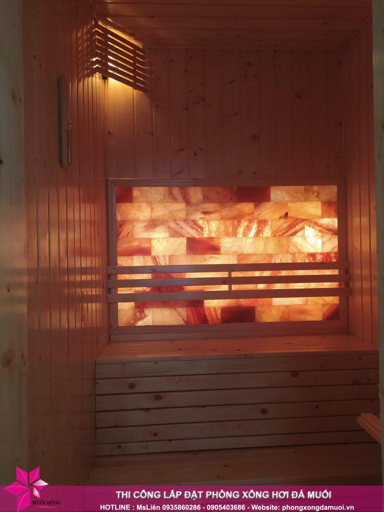 Ban giao phong xong sauna da muoi cho gia dinh chi Phuong 6