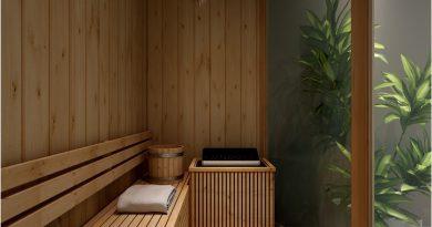 Nho xinh va day du tien nghi voi phong xong kho sauna 2