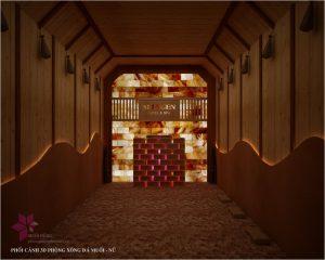 Thi cong khu xong hoi – massage tai Selegend Hotel 2