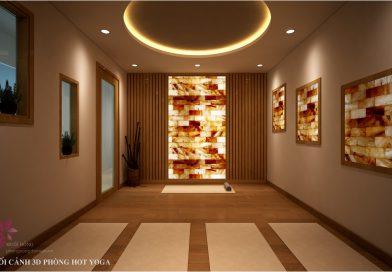 3D PHÒNG HOT YOGA ĐÁ MUỐI DESIGN BY MUỐI HỒNG GROUP